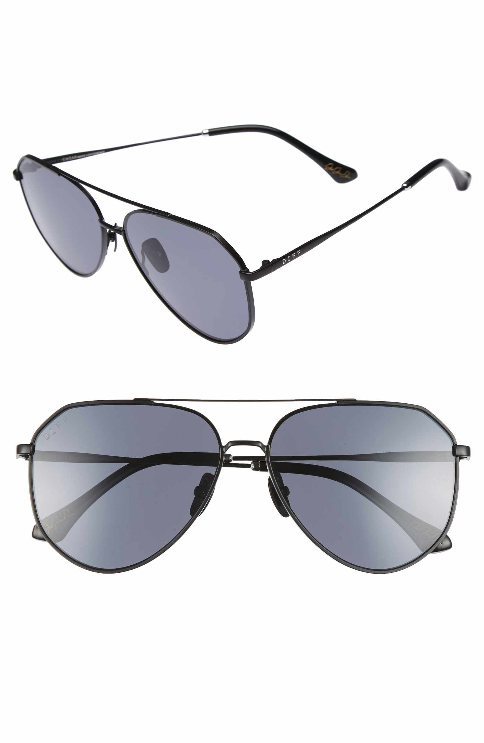 f9c1c9ff3f6d5 DIFF x Jessie James Decker Dash 61mm Polarized Aviator Sunglasses