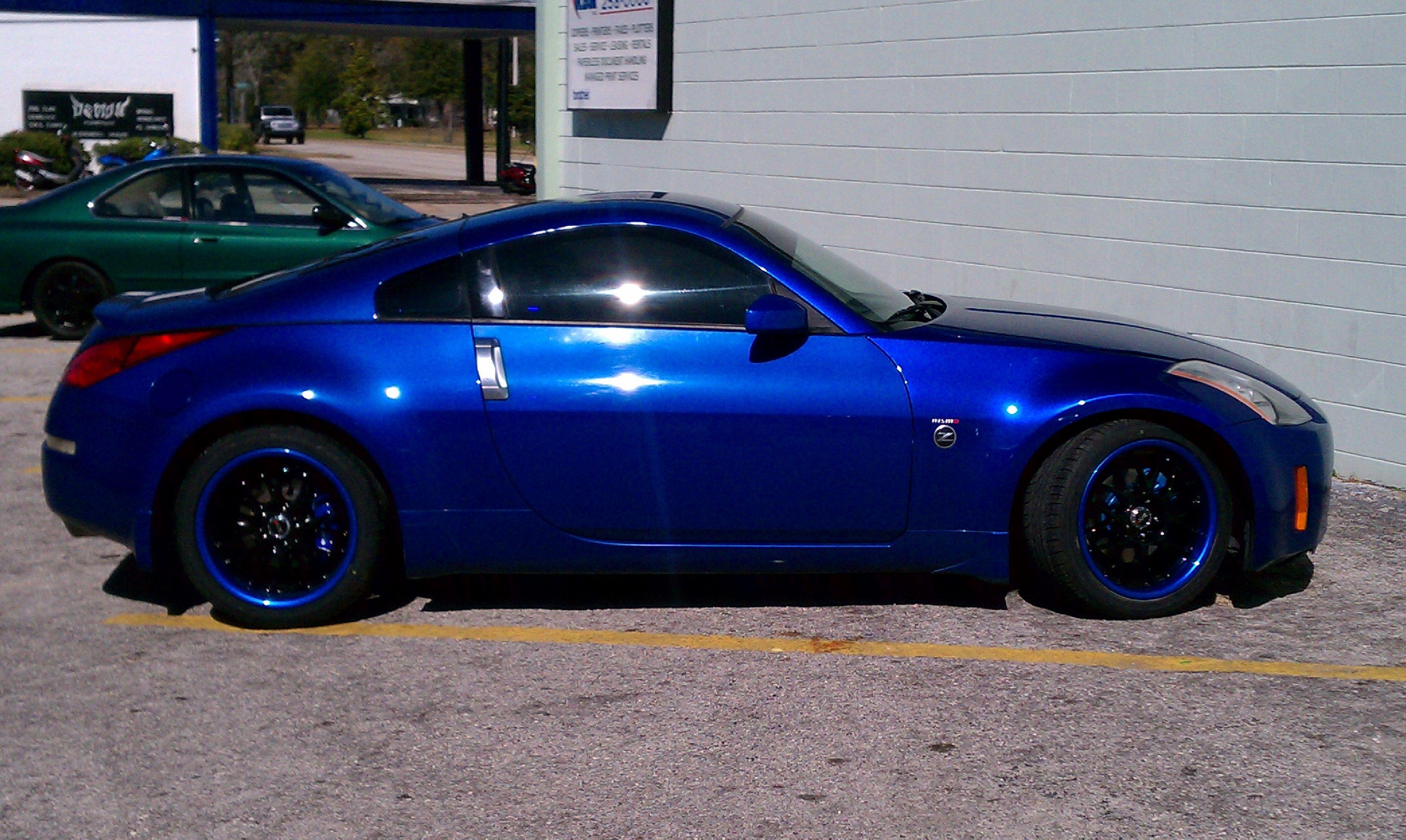 Nissan Columbus Ga >> 350Z on a set of XXR wheels in Black witha blue lip! | Blue lips, Future car, Cool cars
