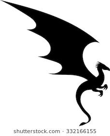 Dragon Silhouette Vector Illustration Dragon Silhouette Cartoon Silhouette Silhouette Art