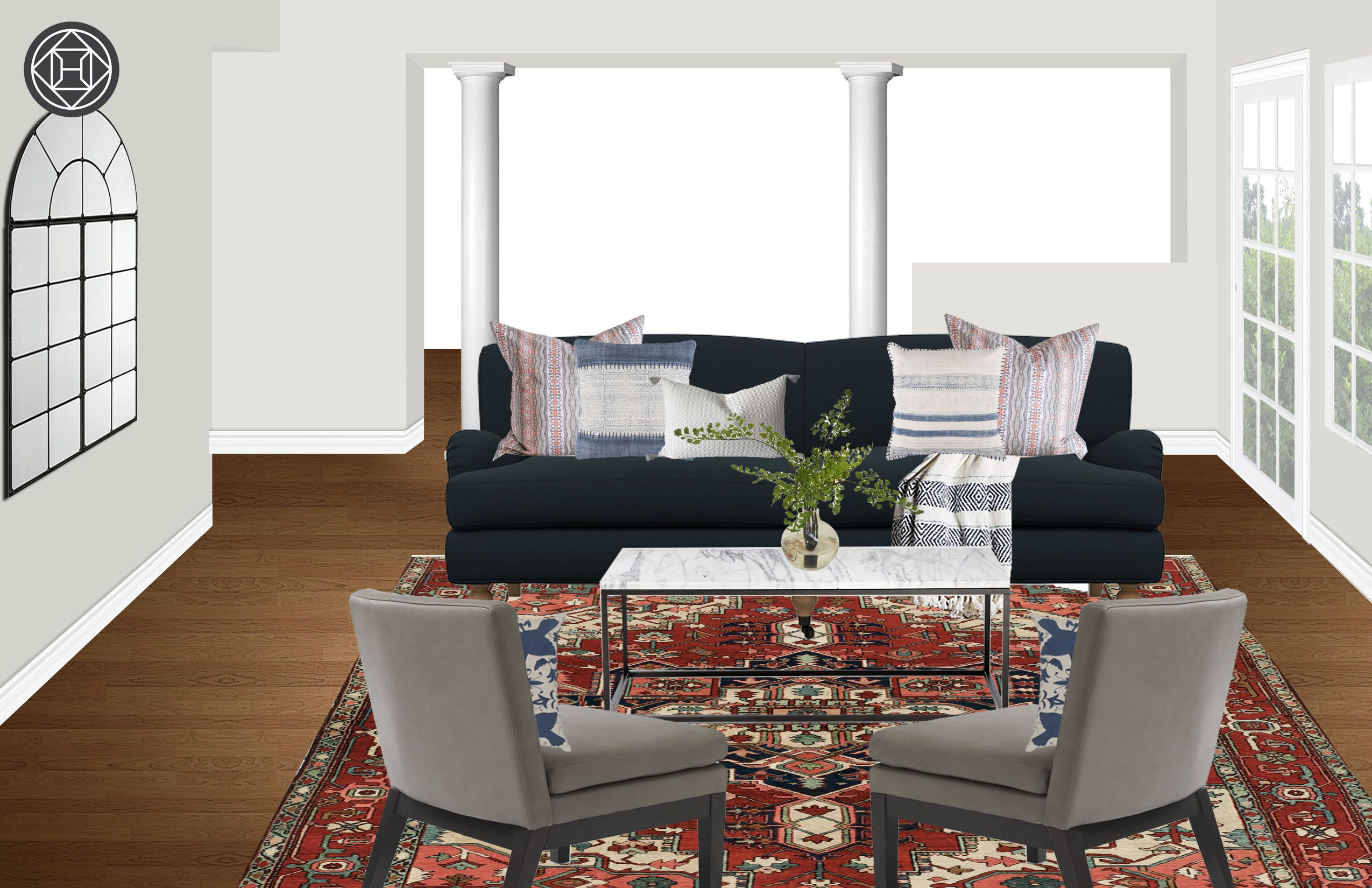 Warm & Cozy Havenly Living Room (With images) | Havenly ...