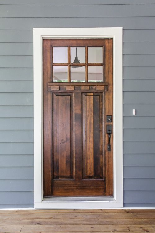 Front Door Walnut Stain That Exterior Color Looks Nice Too
