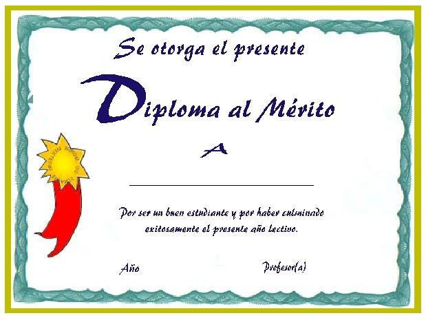 Diseños de diplomas en blanco para imprimir - Imagui | Primer ...