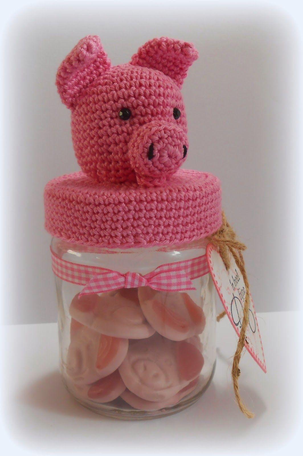 Varkentje Potje Haken Google Zoeken Crocheted Jar Covers