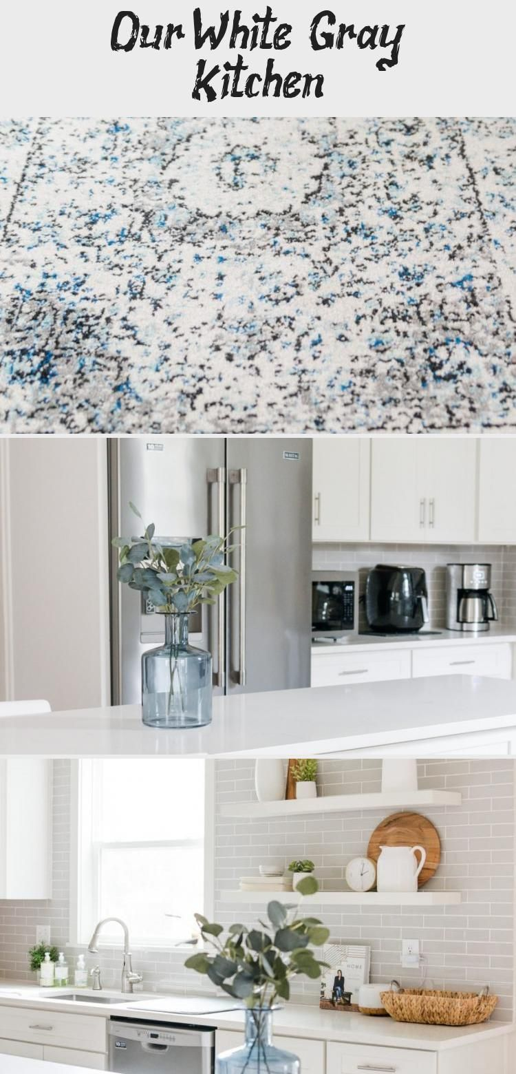 Our White & Gray Kitchen #whiteshakercabinets