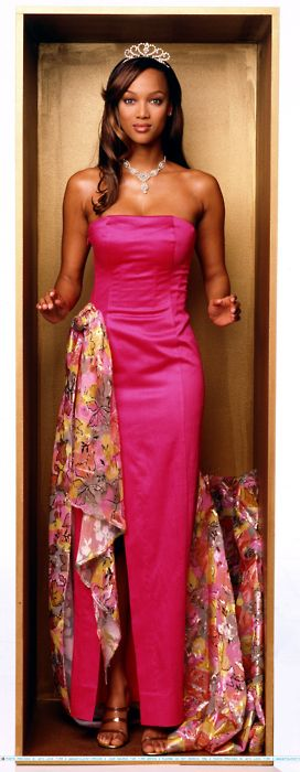 Life Size Tyra Banks Just Watched This About A Week Ago Life Size Barbie Strapless Dress Formal Women