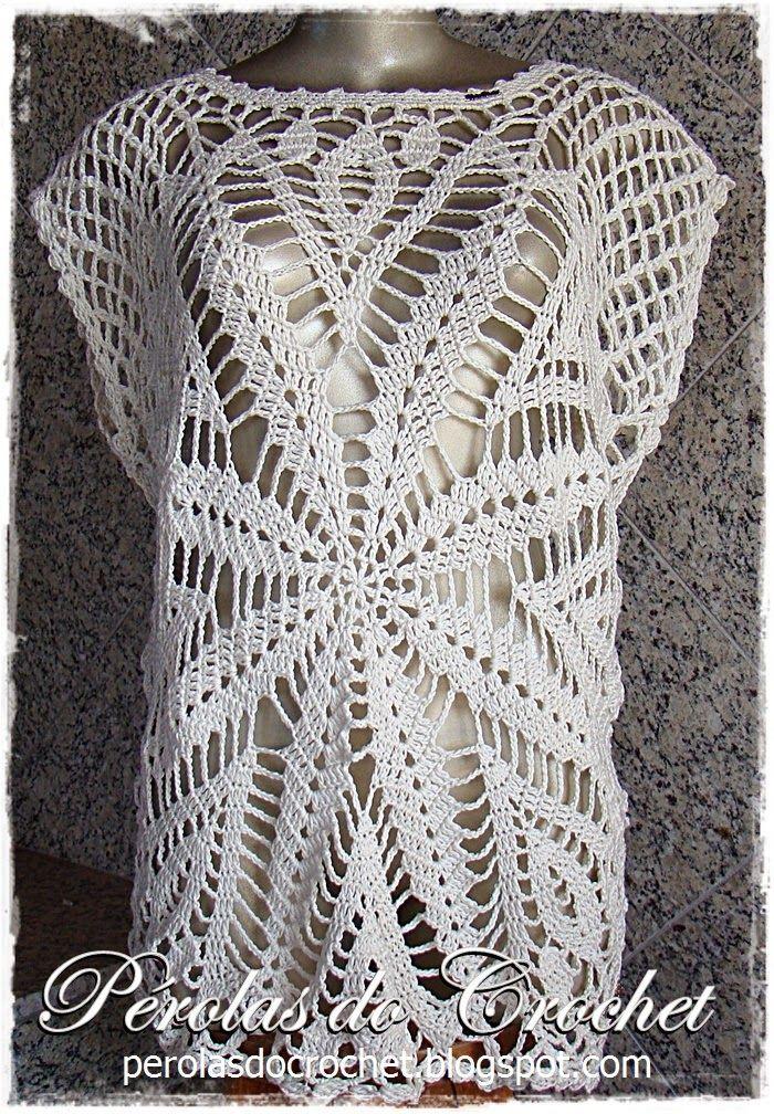 blusa+de+croche+fácil++(1).JPG (700×1008) | QuadradosAPARECIDA ...