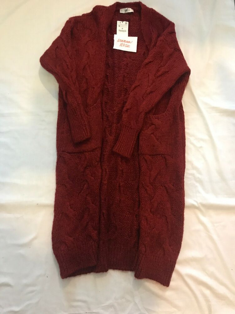 TheMogan Women/'s Boyfriend Relaxed Fit Open Front Pockets Knit Sweater Cardigan