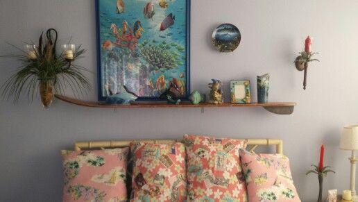 Water Sli Shelf, thrift store Finds. Beach, Tropica decotating