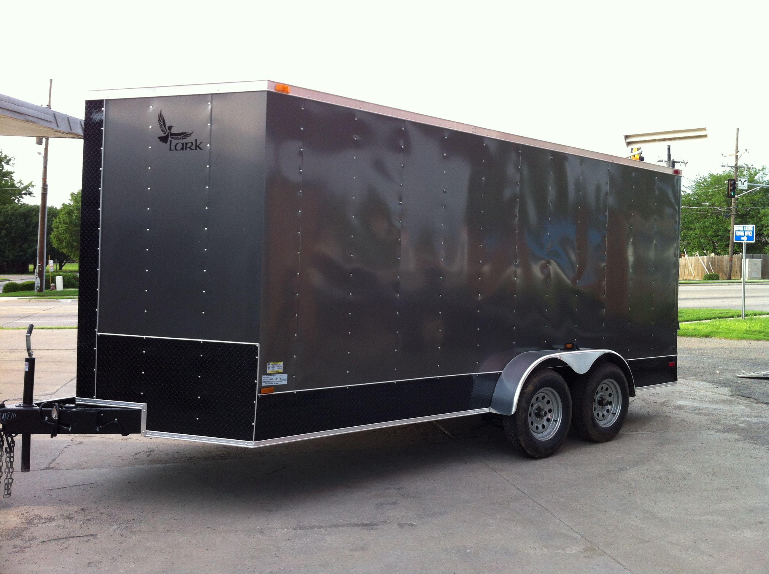 7 x 16 V-nose Lark Enclosed Cargo Trailer Oklahoma Hitch It Trailer ...