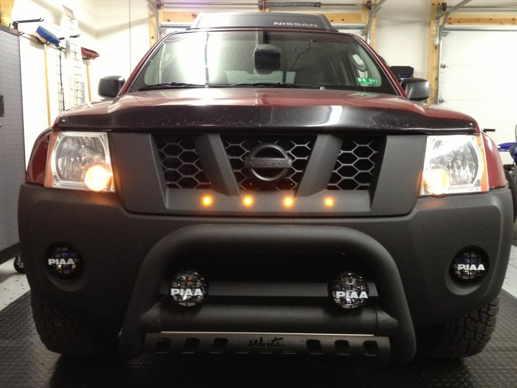 Raptor Led Lights In Xterra Grill Nissan Navara Nissan Navara D40 Nissan Xtrail