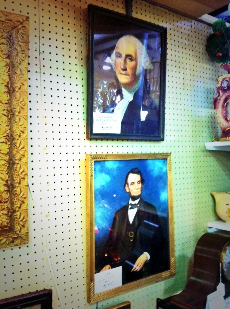 Presidents pictures at Jesse James Antique Mall