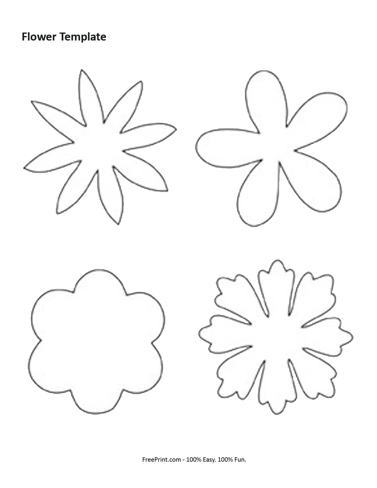 Customize Your Free Printable Flower Shaped Template