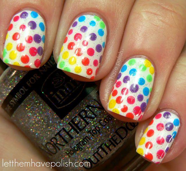 Rainbow Dots Nails