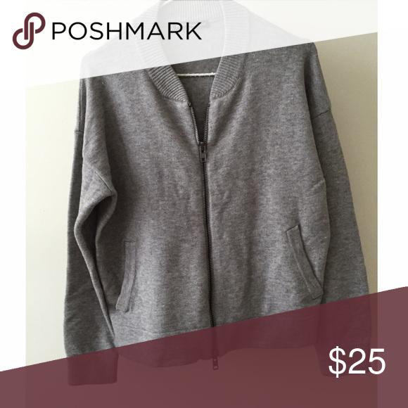 Brandy Melville grey zipper cardigan No trades, PayPal, etc. Brandy Melville Sweaters Cardigans