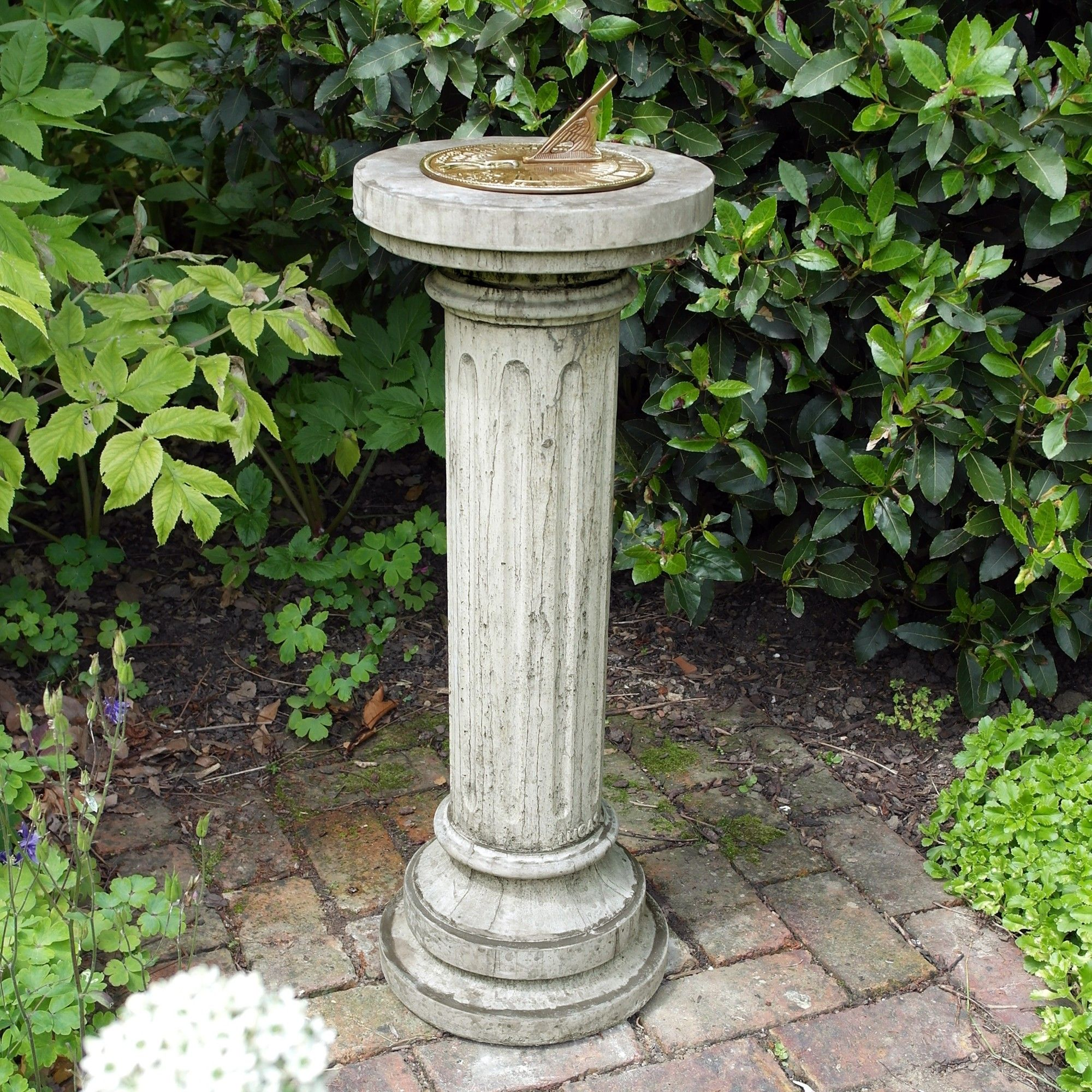 Sundial garden ornament - View The Brighton Aged Brass Stone Sun Dial Garden Sundial Or See Our Full Range Of Exquisite Unique To Statues Sculptures Online