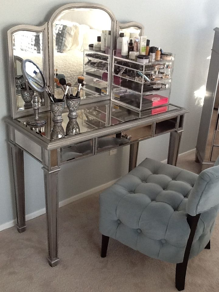 Hayworth Vanity Pier 1 And Acrylic Makeup Storage Beauty Room