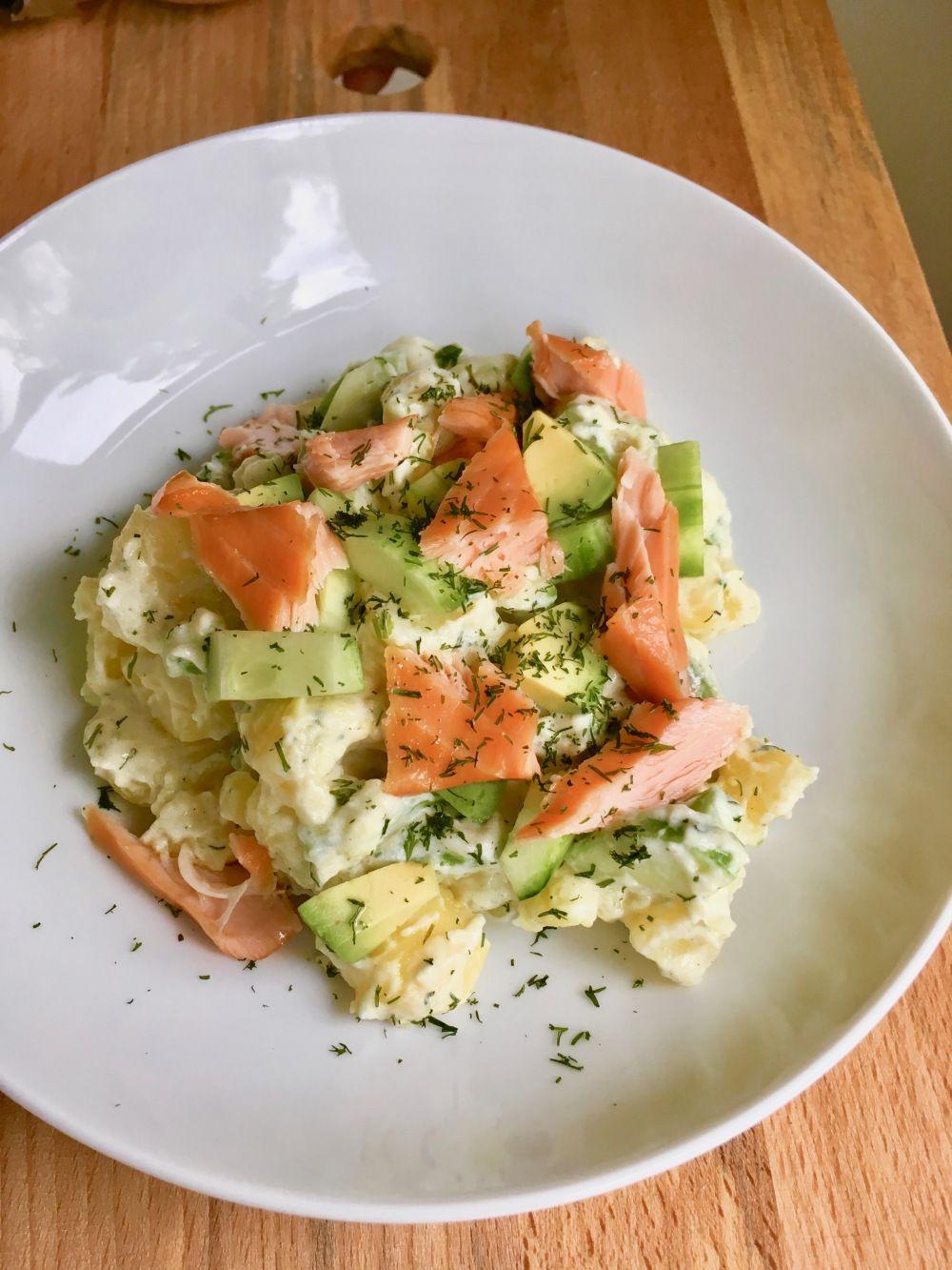 Sommerlicher Lachs Kartoffelsalat Nach Jamie Oliver Ze Kochen Rest