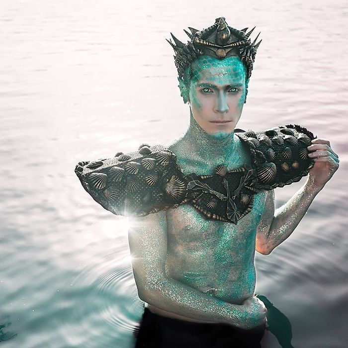 pinhannah kegg on abditory  merman costume mermaid