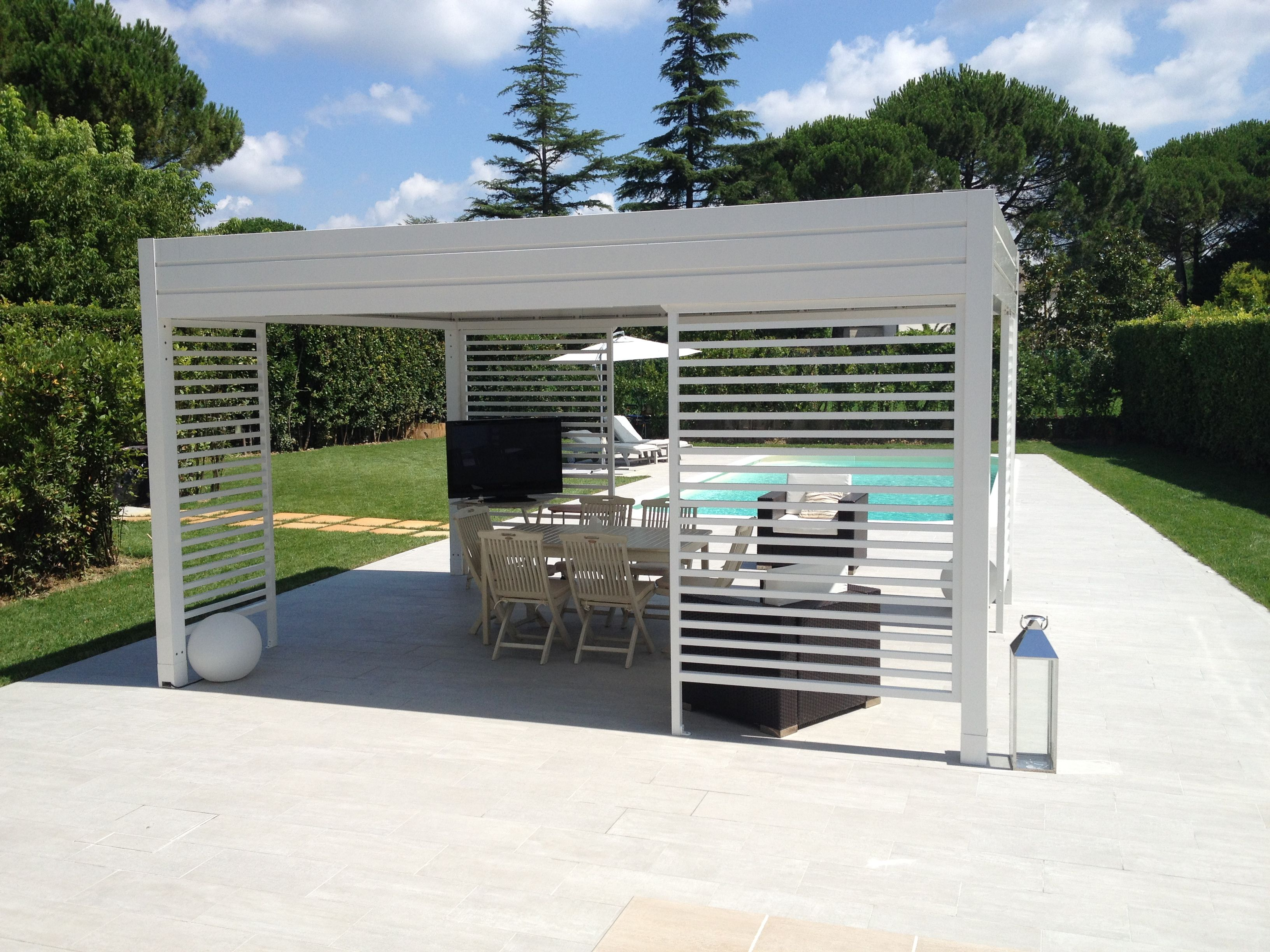 Pin By Bergen Awnings A Division Of On Gennius I1 Covered Pergola Pergola Retractable Pergola