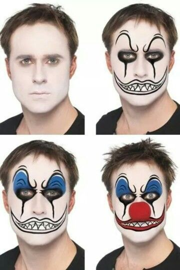 maquillage clown tueur facile a faire. Black Bedroom Furniture Sets. Home Design Ideas