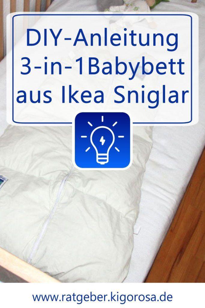 Baby Beistellbett Ikea : diy anleitung 3 in 1 beistellbett mit ikea sniglar beistellbett baby schnupfen und babybay ~ Watch28wear.com Haus und Dekorationen