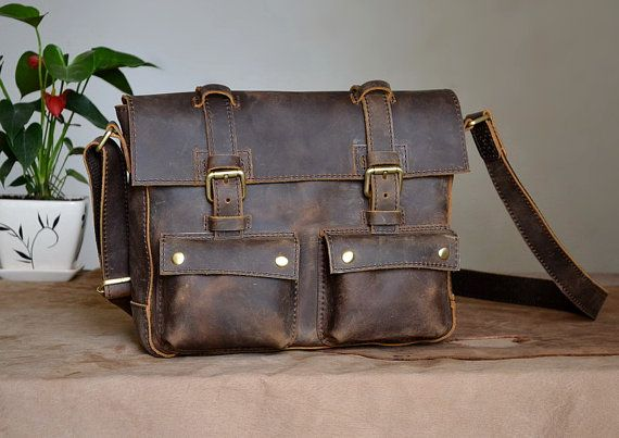 Daily Leather Satchel  by Marlondo Leather via Etsy