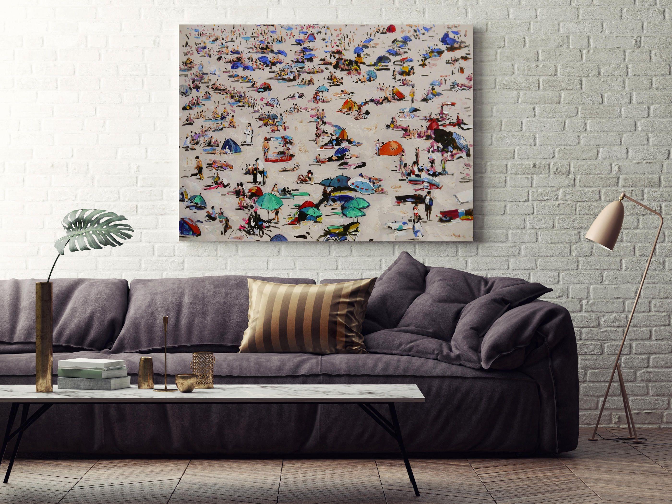 Original Art Beach Painting Oil On Canvas Wall Art California