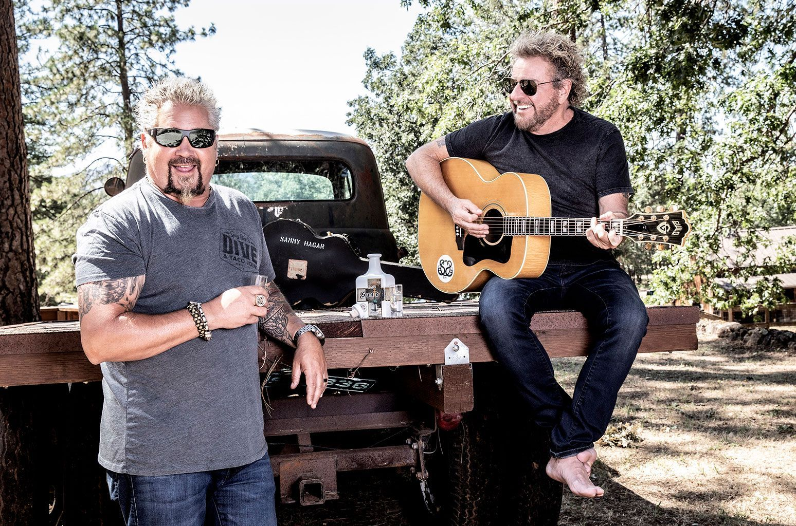 Guy Fieri Sammy Hagar On Why They Re Attached At The Heart Guy Fieri Sammy Hagar Van Halen