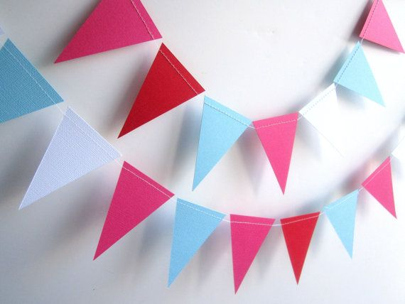 Bunting Garland Decorations Banner Paper Garland By Ferrever, $14.00