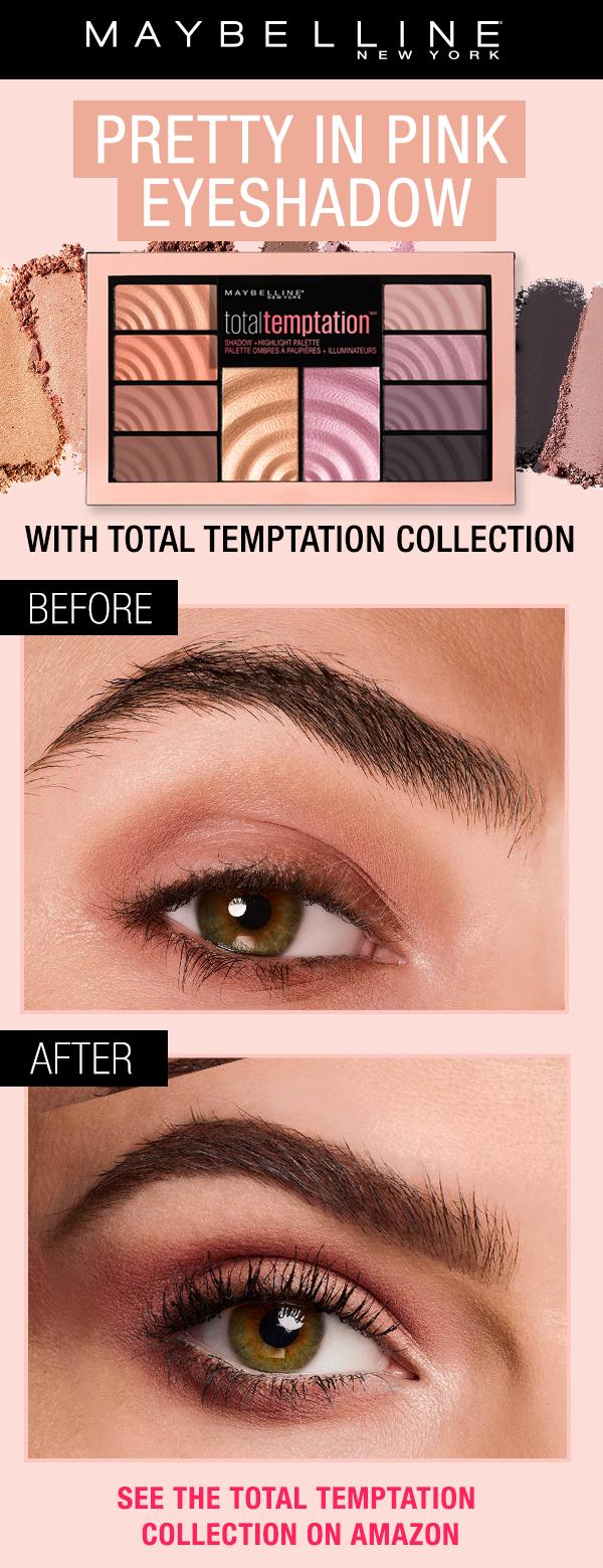 114cf493179 Get this pink eyeshadow and eye makeup look using NEW the Total Temptation  collection. The