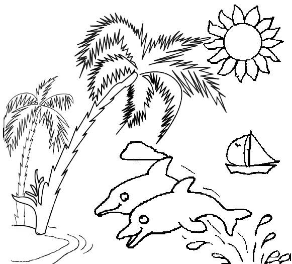 Pin by Colorists Lover on Sunset Coloring Pages | Tree ...