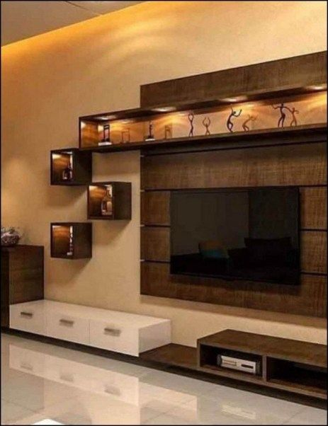 Living Room Lcd Tv Wall Unit Design Ideas: 50 Wall Tv Cabinet Designs Ideas For Cozy Family Room 7