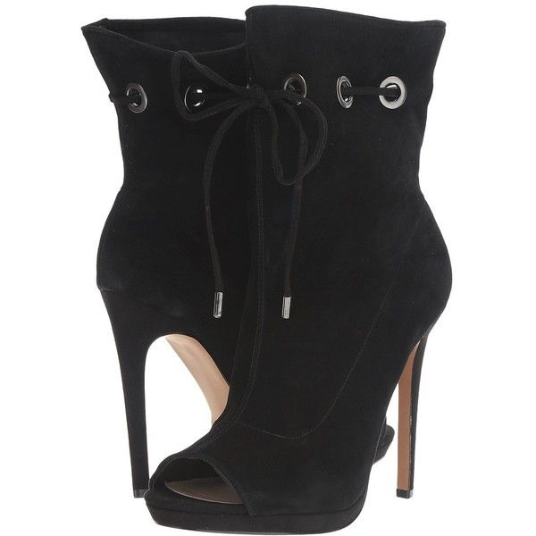 f4b26e520fb Steve Madden Cavalier (Black Suede) Women s Shoes ( 150) ❤ liked on  Polyvore featuring shoes
