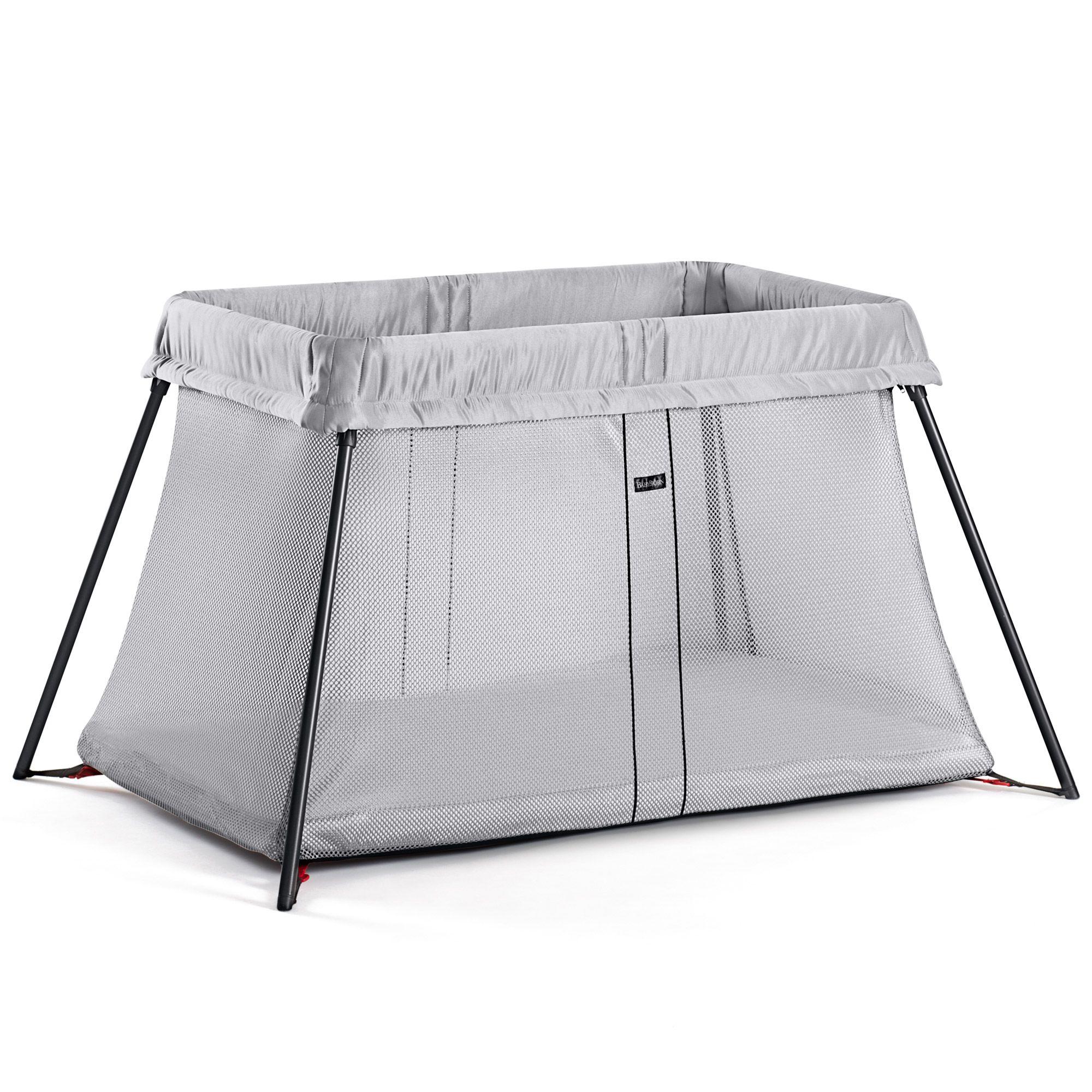 lit de voyage light argent argent de babybjrn lits parapluies aubert - Lit Parapluie Aubert