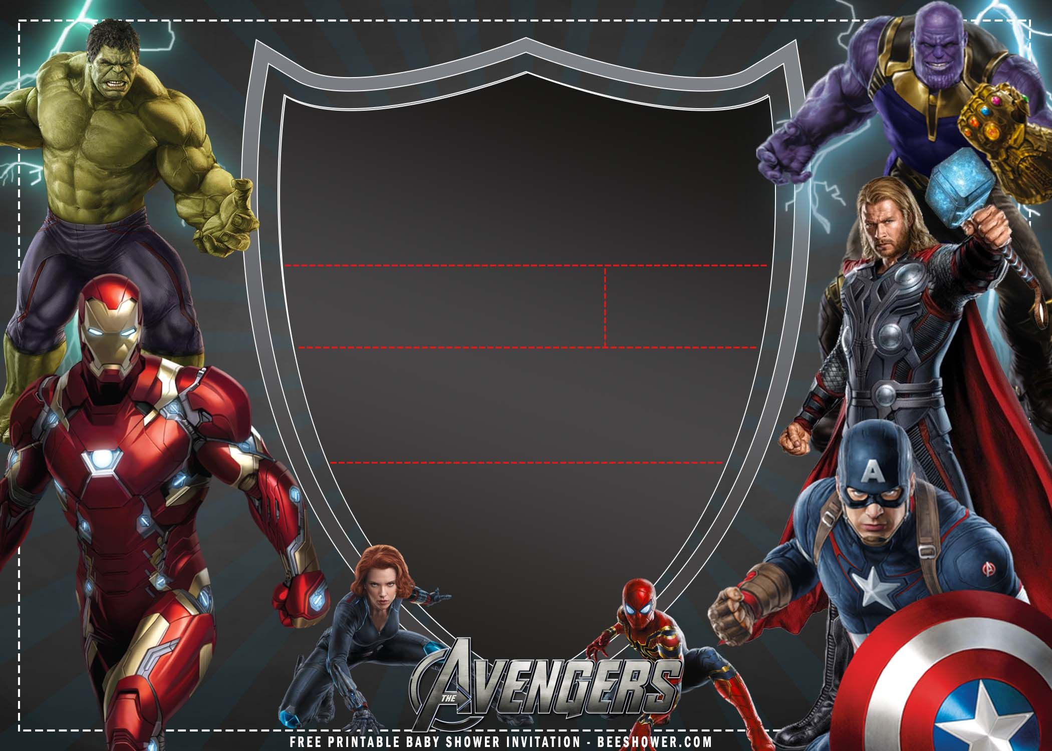 Free Printable Avengers Birthday Party Invitation Templates Avengers Birthday Party Invite Template Avengers Party Invitation