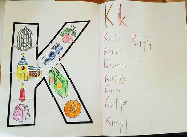 """Photo of Grundschullehrerin auf Instagram: """"Noch ein Blick auf unser Briefbuch! Diese Woche war der K – bald sind alle Briefe fertig 😊 # Briefarbeit… """""""
