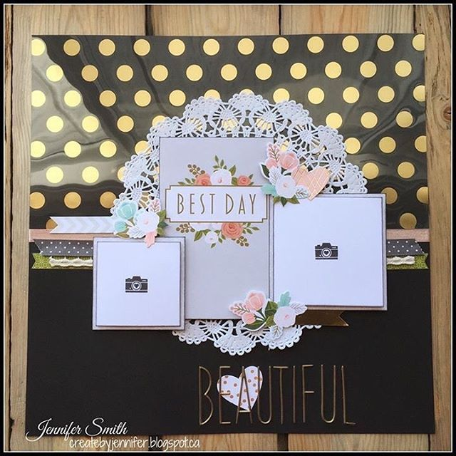 beautiful  single page scrapbook layout with close to my