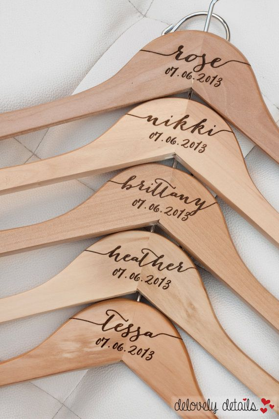 1 Standard Custom Personalized Maid Of Honor Hanger Wooden The