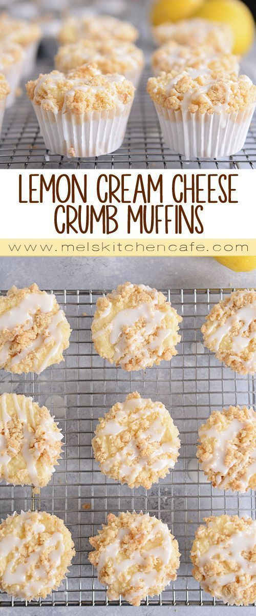 Lemon Cream Cheese Crumb Muffins  drinks smoothies and others