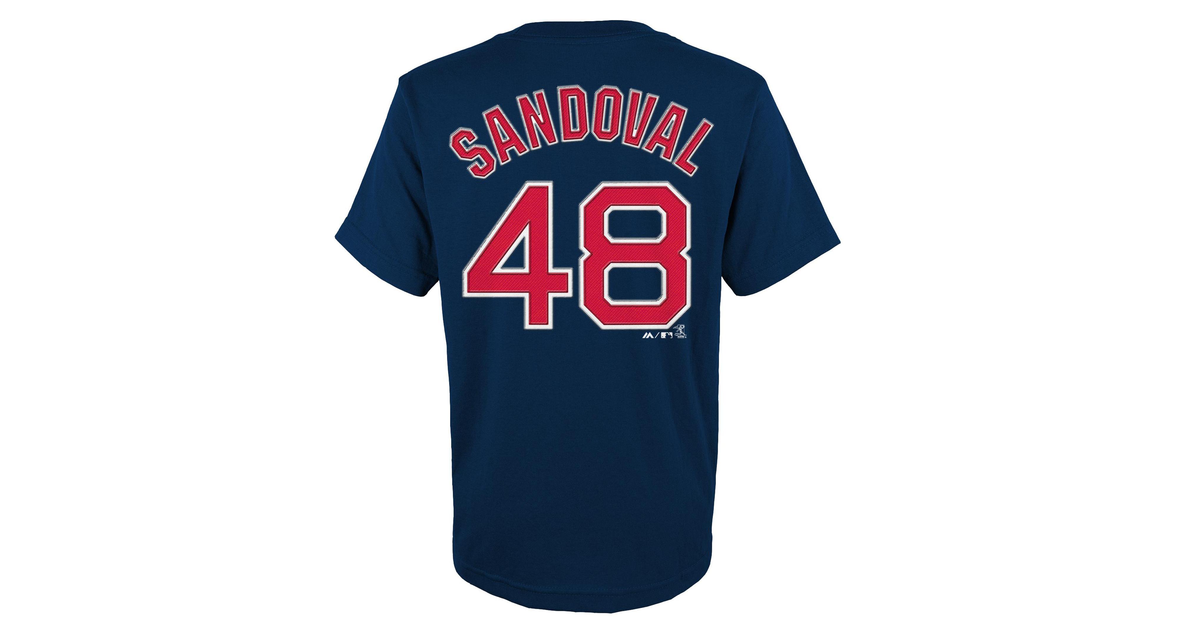 on sale 1097f a0165 Majestic Kids' Pablo Sandoval Boston Red Sox Player T-Shirt ...