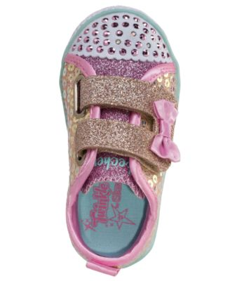 92ddffb945a0e Skechers Toddler Girls' Twinkle Toes: Shuffle Lite - Mini Mermaid Light-Up  Casual Sneakers from Finish Line - Gold 9