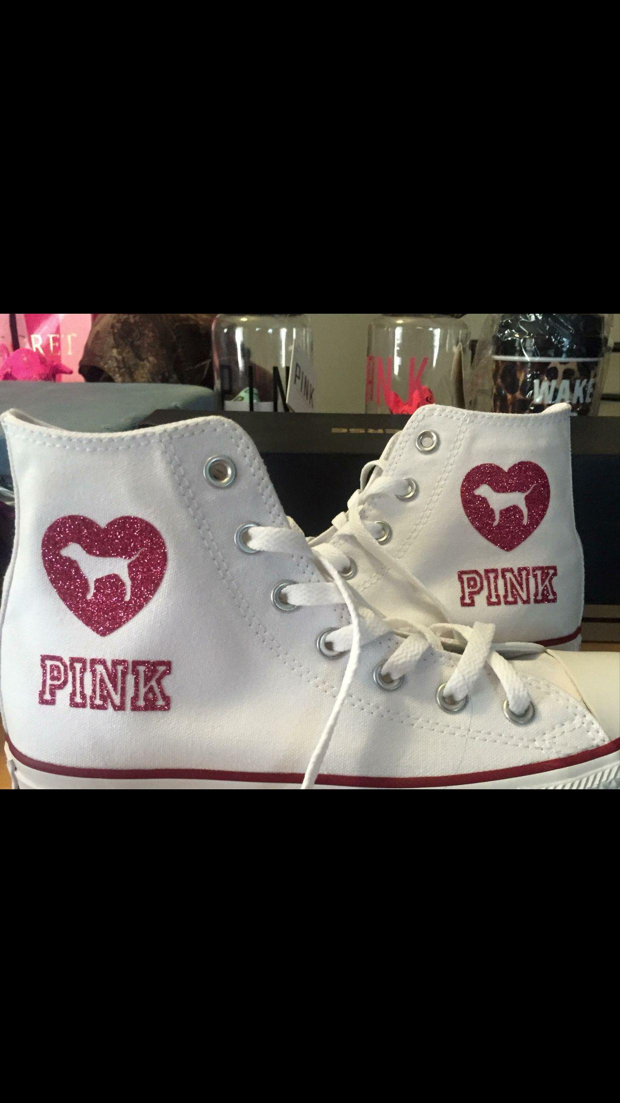 a8d4e4147b6d86 Victoria secret pink converse chucks design your own
