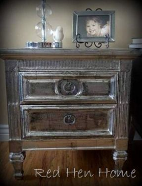 Also Lots Of Tips And How Tos On Painting Furniture Floors Rugs Etc Like This Faux Silver Leaf Finish