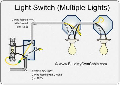 How to wire a switch with multiple lights lighting Light switch
