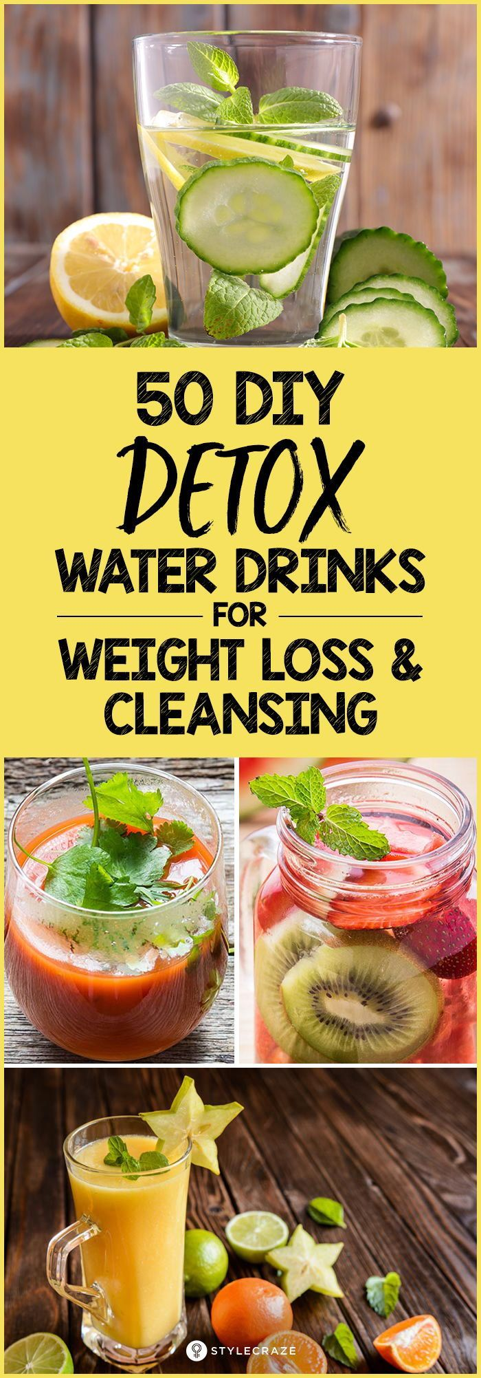Detox Drinks: 10 DIY Natural Detox Recipes For Weight Loss