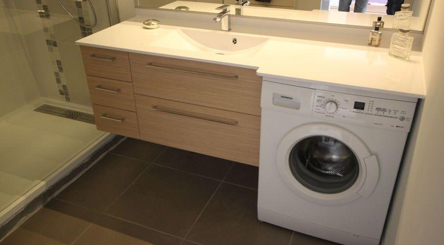 meuble-salle-de-bain-avec-lave-linge | bathroom | pinterest | tiny