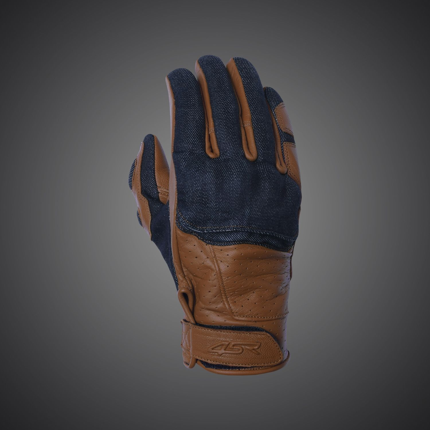 Triumph motorcycle leather gloves - The First Motorbike Gloves Created For Caferacer Scrambler Made Of Soft Leather And Denim