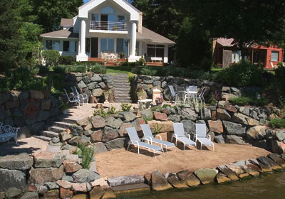 Pin By Linda Last Name On Lake House Lake Landscaping House Landscape Backyard Landscaping