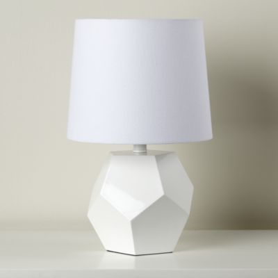 Between A Rock And A Lamp Base White The Land Of Nod