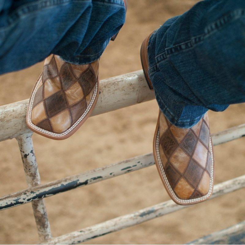 15883e3949a Men s Horse Power Crazy Train Patchwork Cowboy Boots in 2019 ...